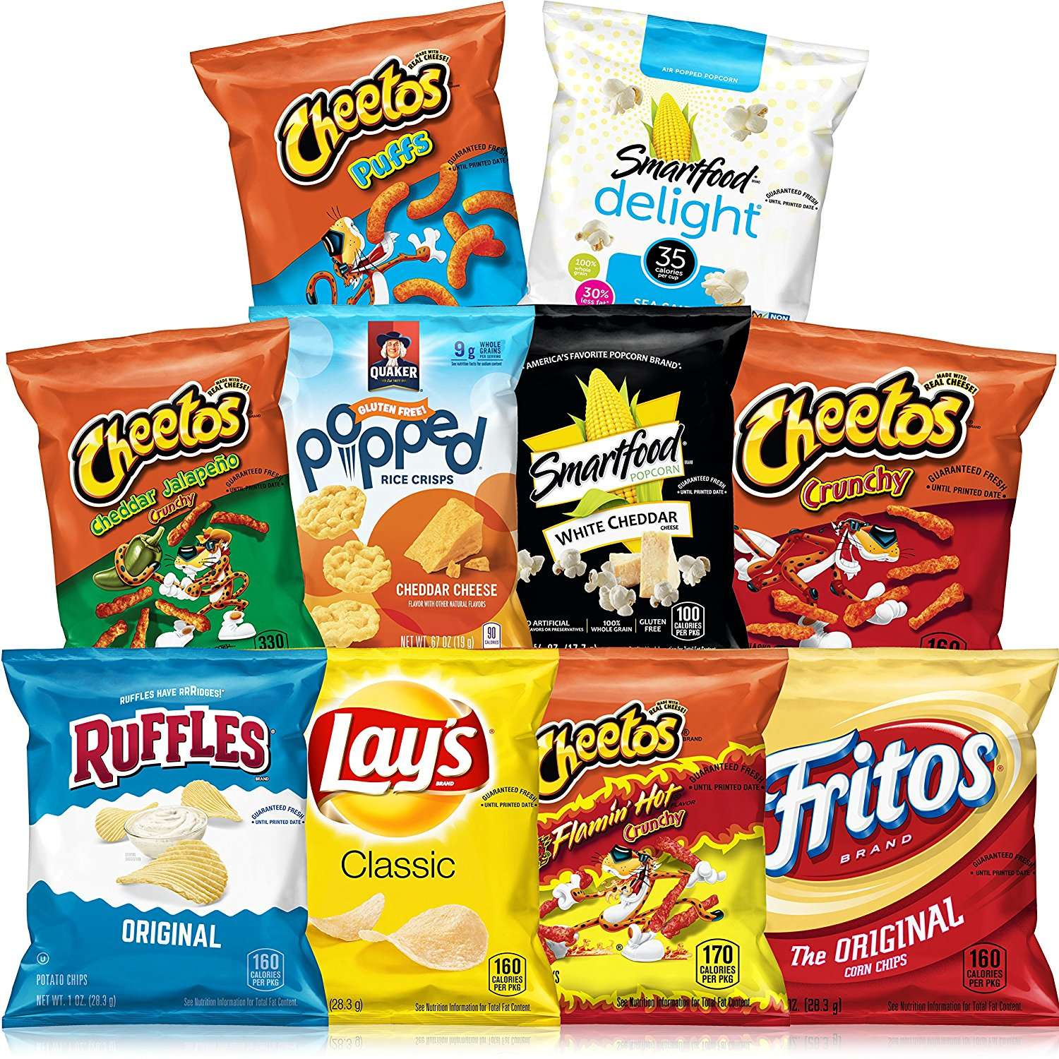 Frito-Lay Gluten Free Mix Variety Pack, 40 Count