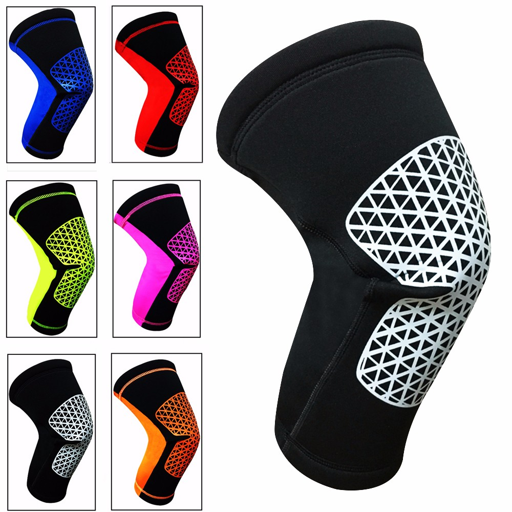 CFR 3mm Neoprene Knee Sleeve Support Breathable Anti-Slip Thermal Compression Protector Single Wrap Arthritis ACL Injury Meniscus Tear Joint Pain Relief for Sports Unisex Single