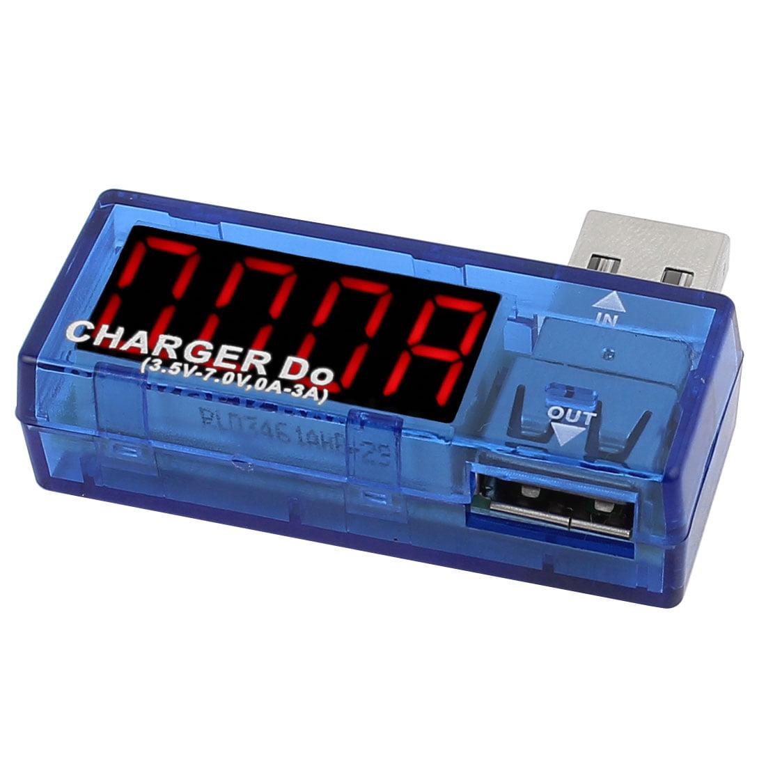 3.5-3.7V Voltage 0-3A Current Battery USB Charger Tester Meter Power Detector - image 2 de 2