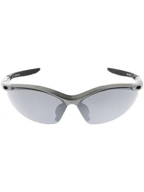 4e212d97b20 Product Image TR-90 Semi Rimless Sports Wrap Sunglasses Ribbed Arms Smoke  Lens 74mm (Green