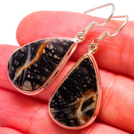 Picasso Jasper 925 Sterling Silver Earrings 1 3/4