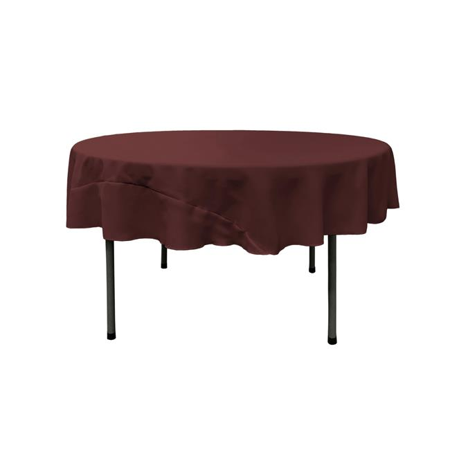 LA Linen TCpop72R-BurgundyP17 Polyester Poplin Tablecloth, Burgundy 72 in. Round by