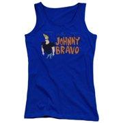 Johnny Bravo Johnny Logo Juniors Tank Top Shirt