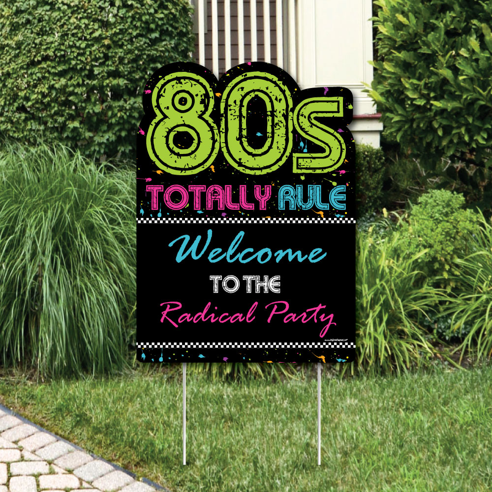80's Retro - Party Decorations - Totally 1980s Party Welcome Yard Sign