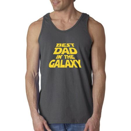 New Way 715 - Men's Tank-Top Best Dad In The Galaxy Star Wars Opening