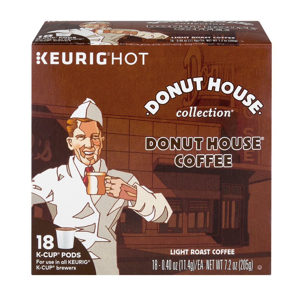 donut house collection light roast kcup pods donut house coffee 18 ct - Keurig Coffee Pods
