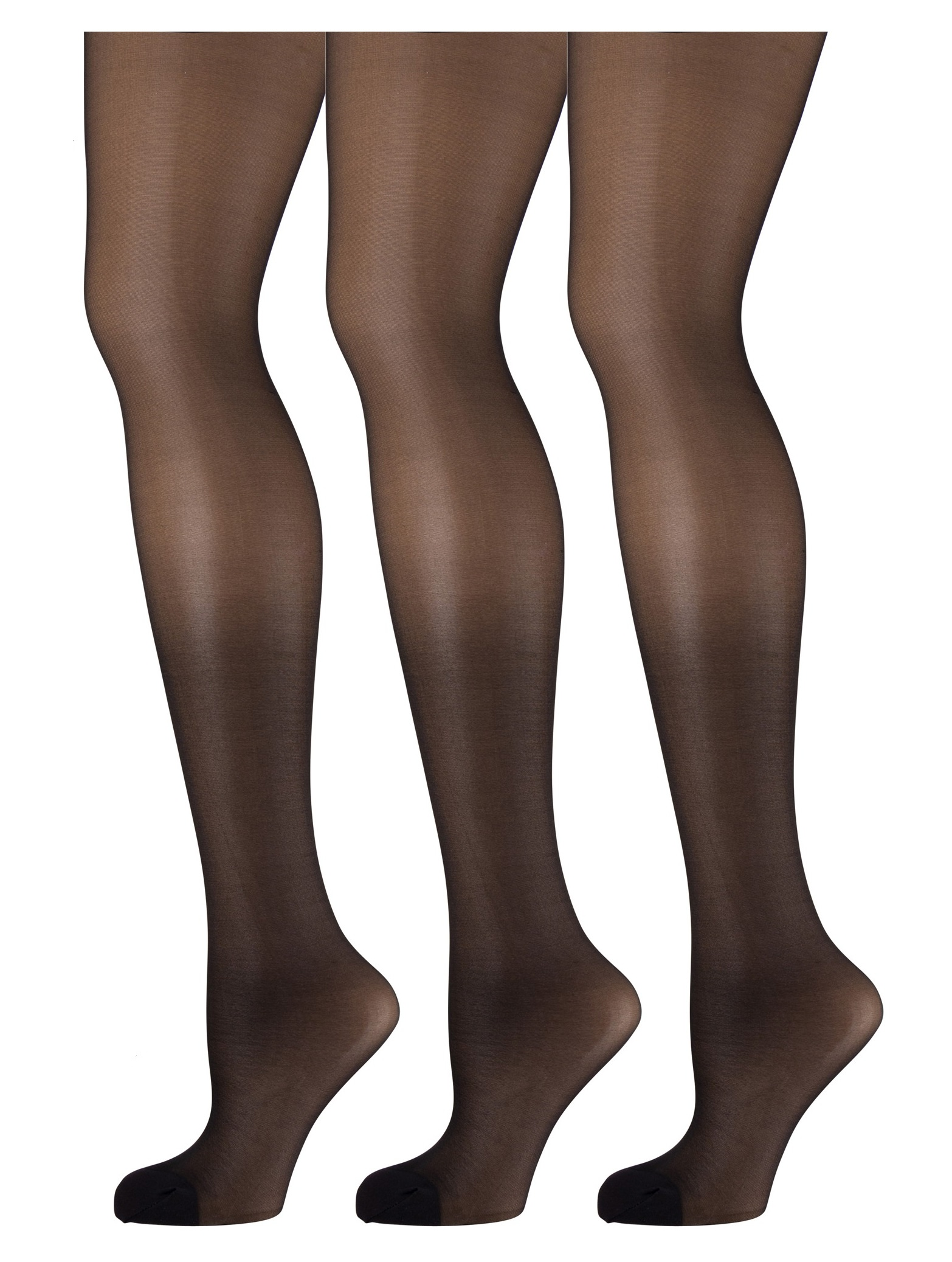 082b014bded5e Mod & Tone - 3 Pack of Mod & Tone Sheer Support Control Top 30D Womens  Pantyhose (Honey, Small) - Walmart.com