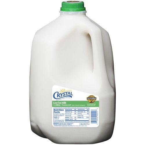 Crystal Creamery Low Fat Milk, 1 gal