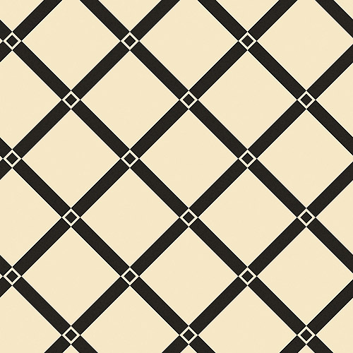 Blue Mountain Lancaster Trellis Wallcovering, Black and Ivory