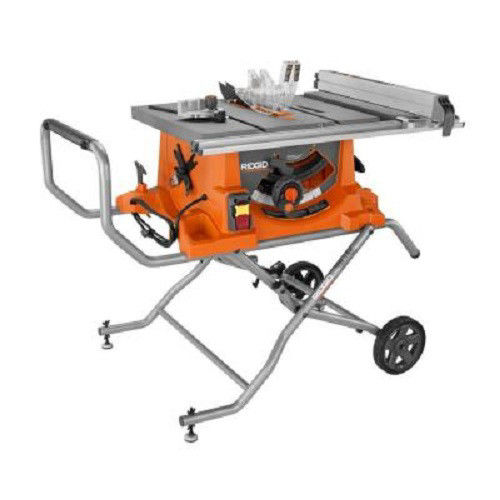 Factory-Reconditioned Ridgid ZRR4513 15 Amp 10 in. Portable Table Saw with Mobile Stand... by