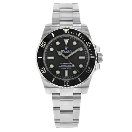 Rolex Submariner 114060 No Date Stickers Barcode 2018 Steel Automatic Mens Watch