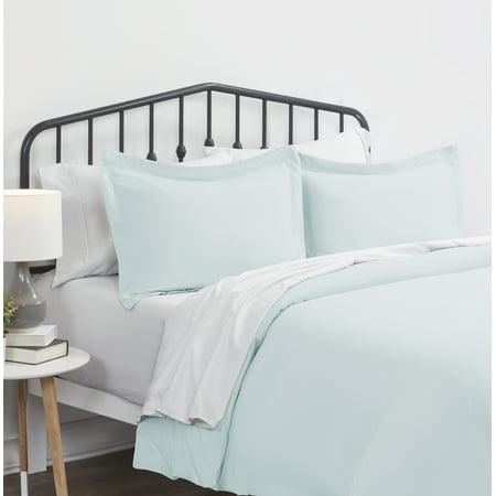 Noble Linens 3 Piece Solid Duvet Cover Set ()