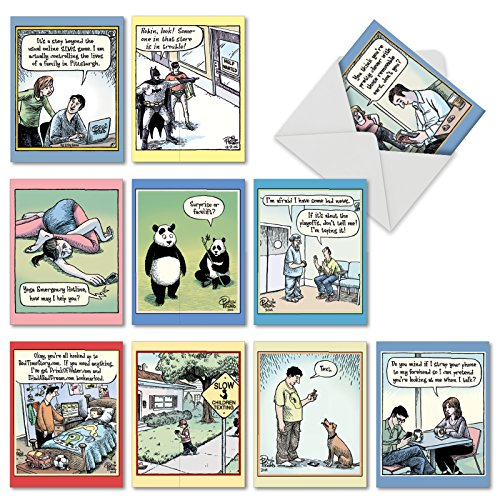 'M6464TYG VERY BIZARRO' 10 Assorted Thank You Greeting Cards Featuring an Assortment of Favorite and Funny Bizarro by Dan Piraro Cartoons with Envelopes by The Best Card Company