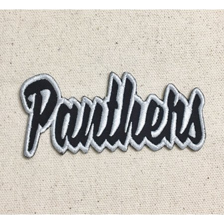 Panthers - Black/Gray - Team Mascot - Words/Names - Iron on Applique/Embroidered - Panther Mascot