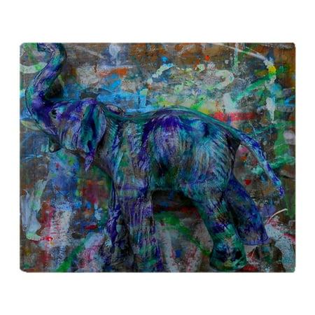 "CafePress - Abstract Elephant - Soft Fleece Throw Blanket, 50""x60"" Stadium Blanket"