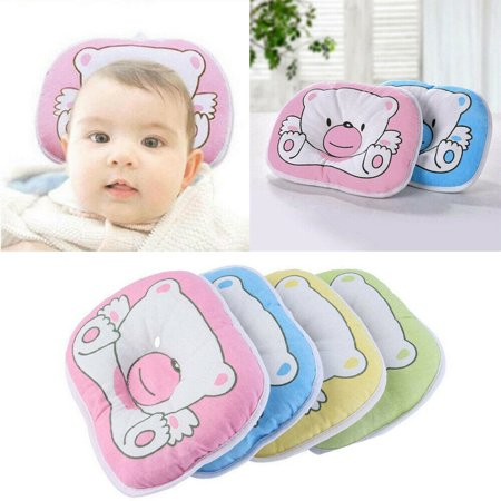 Bear Pattern Pillow Newborn Infant Baby Support Cushion Pad Prevent Flat Head Newborn Infant Baby Cute