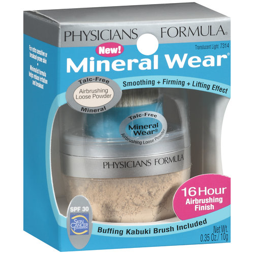 Physicians Formula Mineral Wear Airbrushing Loose Powder SPF 30, 7314 Translucent Light, 0.35 oz