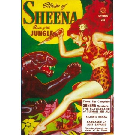 Pop Culture Graphics MOV409831 Sheena Queen of The Jungle Pulp Movie Poster, 11 x 17 - image 1 of 1