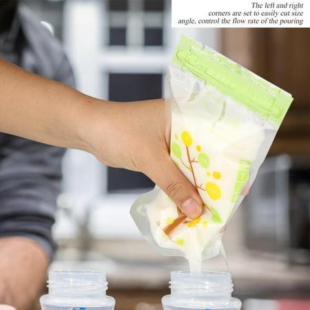 HURRISE Sacs de stockage de lait maternel du bébé 112Pcs sacs de stockage stérilisés de lait maternel de preuve de fuite de 235ml, sac de lait maternel, sacs de lait maternel de bébé - image 2 de 14