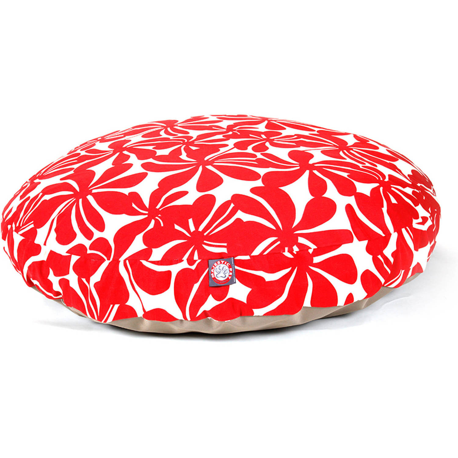 Majestic Pet Products Plantation Round Outdoor Indoor Pet Bed Removable Cover