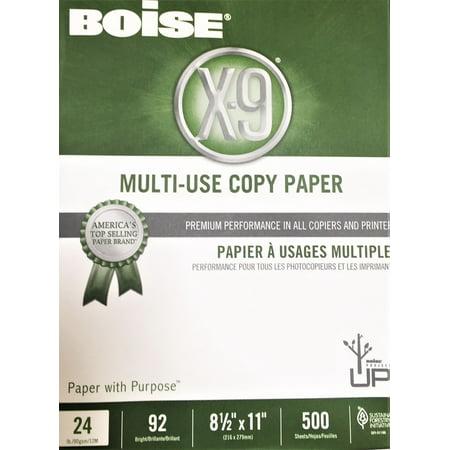 Boise® X-9® Multi-Use Copy Paper, Letter Paper Size, 92 Brightness, 24 Lb, White, Ream Of 500 Sheets 500 Sheet Drawer Letter