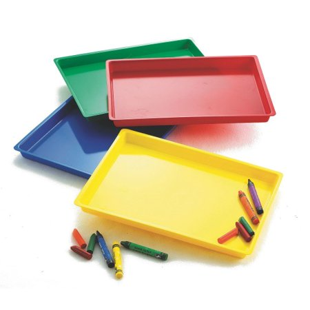 (Price/Set)S&S Worldwide Large Colored Tray, Set of 4