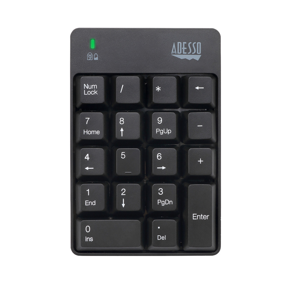 Adesso Wireless Spill Resistant 18-Key Numeric Keypad