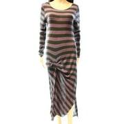 Free People NEW Purple Women's Size Medium M Striped Sheath Dress