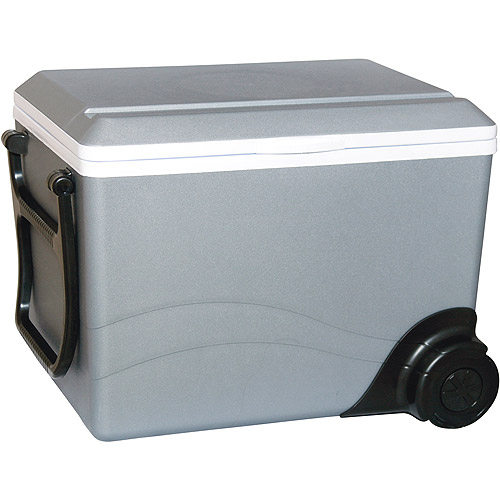 Koolatron RV / Car 12 Volt Wheeled Cooler, W75 Kool Wheeler Thermoelectric Portable Travel Cooler, 36 quart 57-can capacity