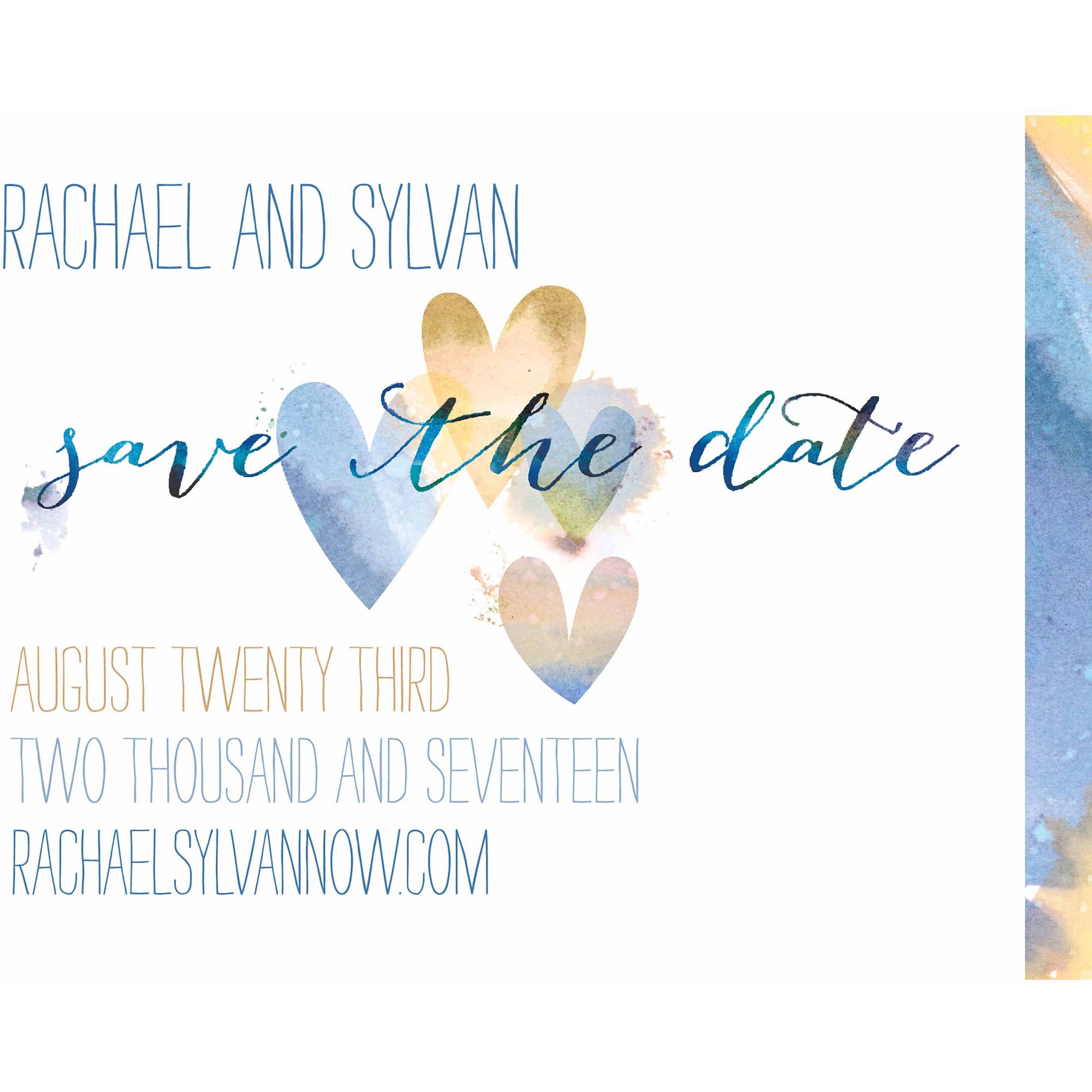 Ombre Hearts Standard Save the Date