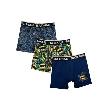 Batman Poly Boxer Briefs, 3 Pack (Big Boys & Little Boys)