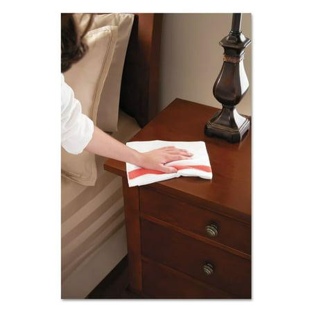 Hygen Sanitizer Safe Microfiber Cloth  16 X 19  White Red  288 Carton