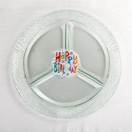 Demdaco 2020170239 Pop in Round Divided Dish ()