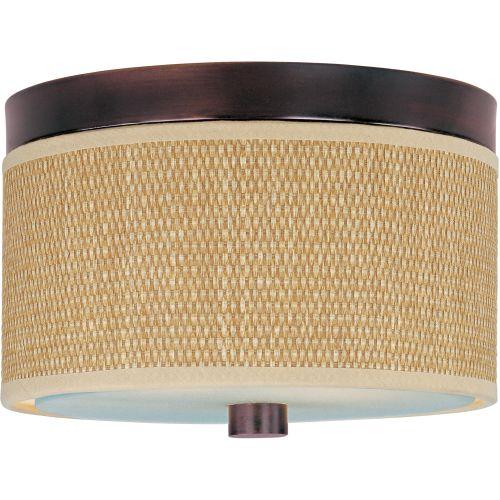ET2 E95000-101 Elements 2-Bulb Flush Mount Indoor Ceiling Fixture - Fabric Shade
