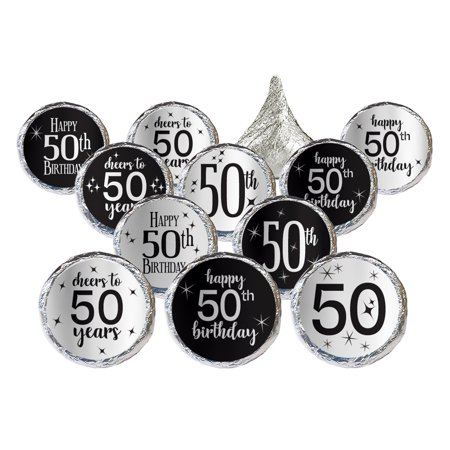 Silver Foil 50th Birthday Stickers 324ct