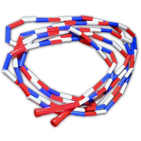 Light Up Jump Rope (Red, White and Blue Segmented 16-ft Jump)