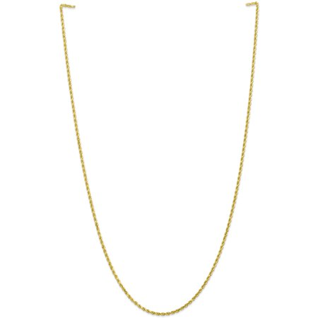 10k 2mm Handmade Diamond cut Rope Chain