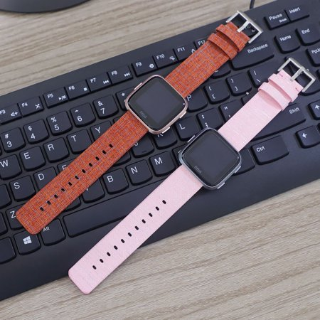 SDFB-002 Watch Band Fitbit Strap Canvas Plaid Wrist Strap Replacement Wristband for Fitbit Versa Fitness Smart Watch - image 6 de 7