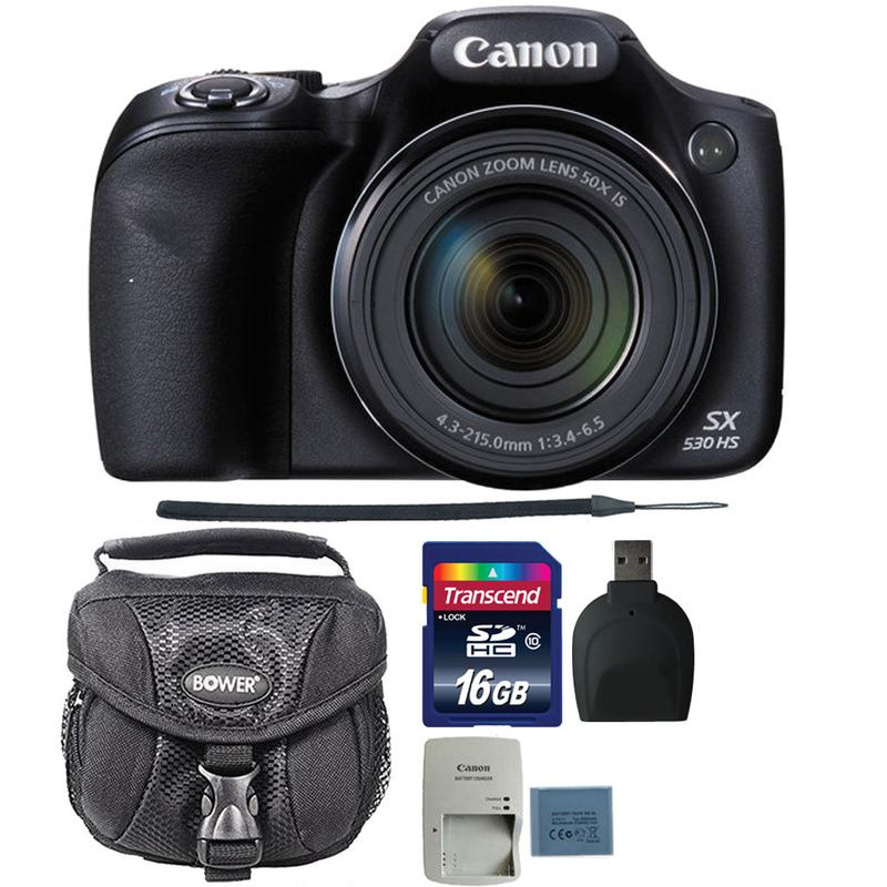 Canon PowerShot SX530 HS 16MP Digital Camera with 16GB Ultimate Accessory Bundle