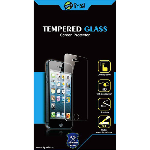 Kyasi Gladiator Glass Ballistic Tempered Screen Protector for Apple iPhone 4 or iPhone 4S, Clear
