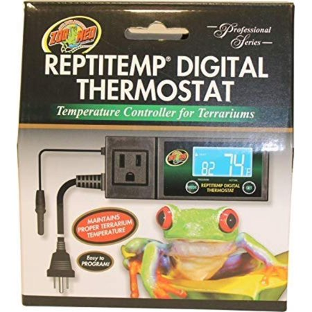 ReptiTemp RT-600 Digital Thermostat Controller, Temperature control range: 50F to 122F. Controls Temperature by turning on heating devices in HEAT mode or by.., By Zoo (Best Zoo Med Thermostats)