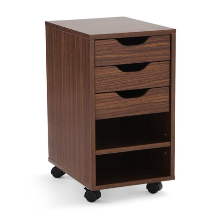 Mainstays Perkins Rolling File Cabinet, Multiple Colors