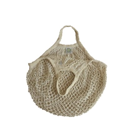 Cotton Outdoor Reusable Fruit Net Pocket Handbag Large Capacity Shopping Portable Net Bag - Fruit Bag