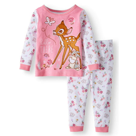 BAMBI Cotton Tight Fit Pajamas, 2-piece Set (Baby Girls)