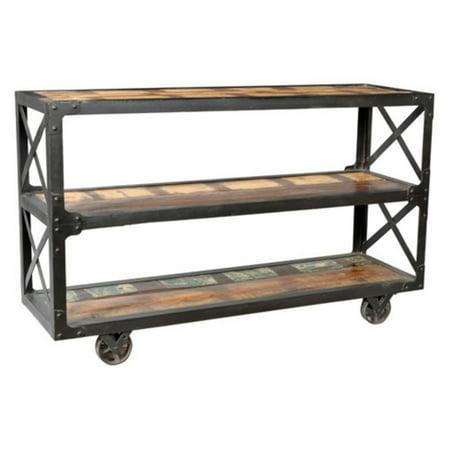 Taran Design Colorado Iron Frame Bookcase - Walmart.com