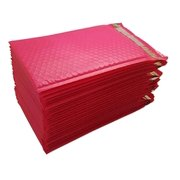 """iMBAPrice 25-Pack #0 (6"""" x 10"""") Premium Hot Pink Color Self Seal Poly Bubble Mailers Padded Shipping Envelopes (Total 25 Bags)"""