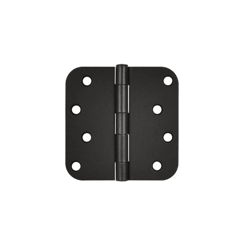 "Deltana S44R5 4"" x 4"" Plain Bearing 5/8"" Radius Corners Mortise Hinge - Pair"