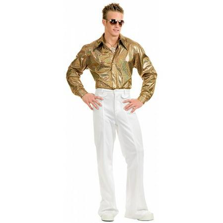 Halloween Holograms For Sale (Hologram Disco Shirt Adult Costume -)