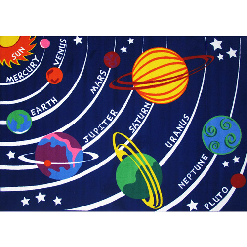 Fun Rugs Fun Time Solar System Rectangle Rug, Multi-Color