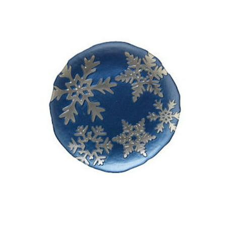 Vietri - Snowflake Salad Plate - Blue - Snowflake Plate
